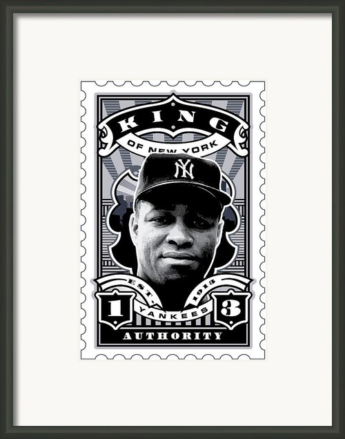 Dcla Elston Howard Kings Of New York Stamp Artwork Framed Print By Dcla Los Angeles