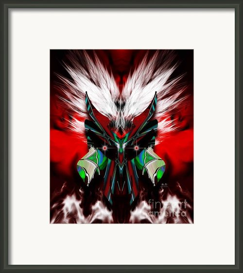 Death Mask Framed Print By Mr Ds Abstract Adventures