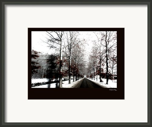 December Road 2 Framed Print By Xoanxo Cespon