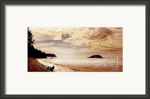 Deception Bay Washington Framed Print By Artist And Photographer Laura Wrede