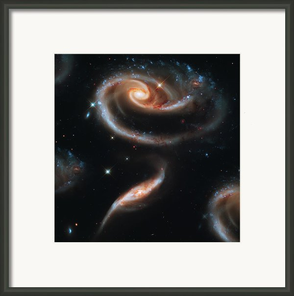 Deep Space Galaxy Framed Print By The  Vault