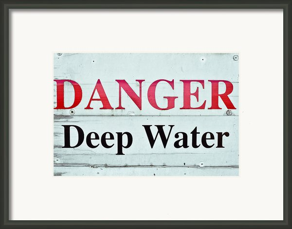 Deep Water Framed Print By Tom Gowanlock