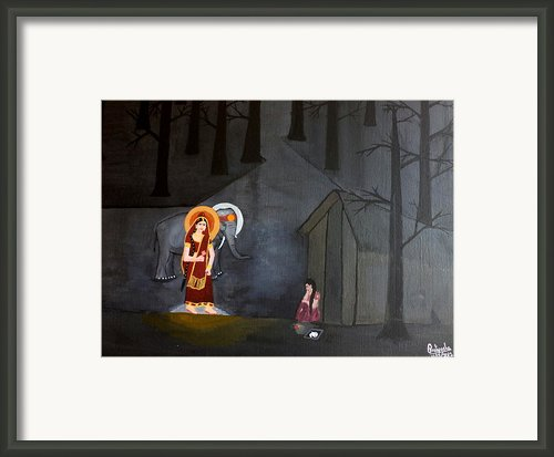 Deepavali Night Framed Print By Pratyasha Nithin