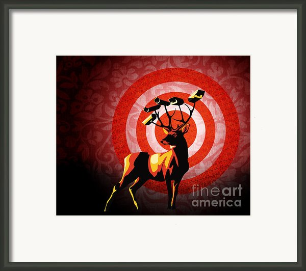 Deer Watch Framed Print By Sassan Filsoof