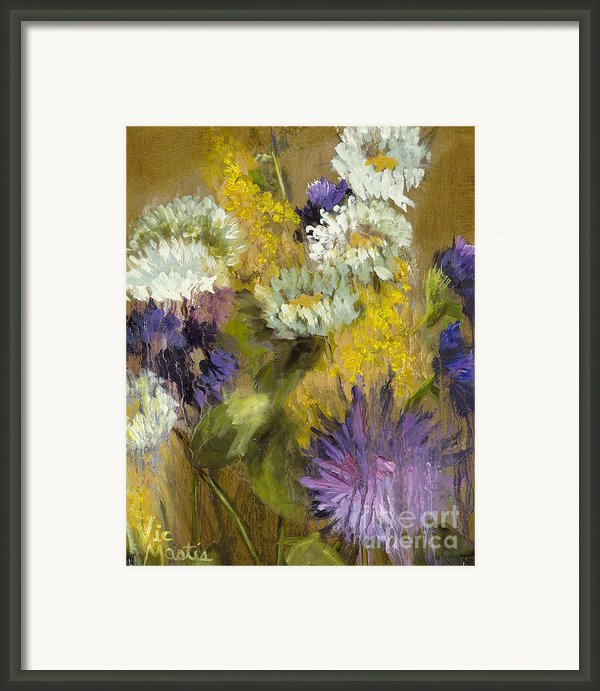 Delicate Aroma I -unframed-with Gold Leaf By Vic Mastis Framed Print By Vic  Mastis