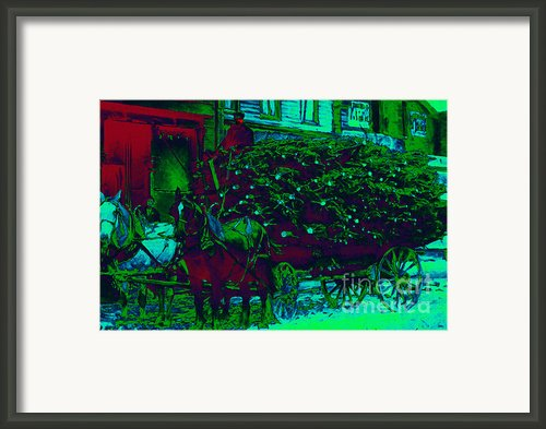 Delivering The Christmas Trees - 20130208 Framed Print By Wingsdomain Art And Photography