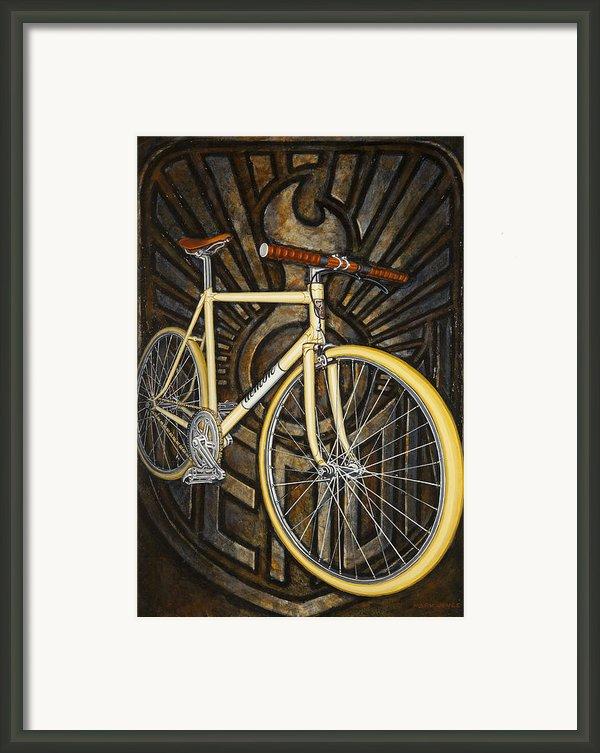 Demon Path Racer Bicycle Framed Print By Mark Howard Jones