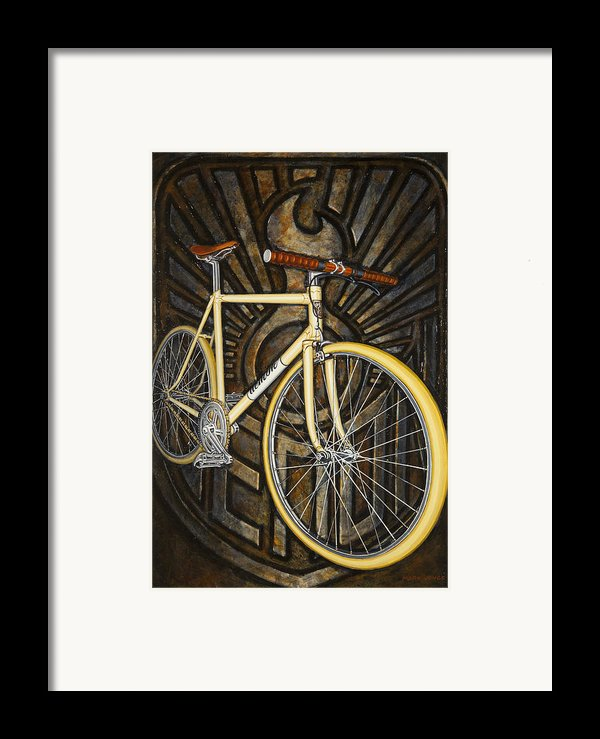 Demon Path Racer Bicycle Framed Print By Mark Howard Jones