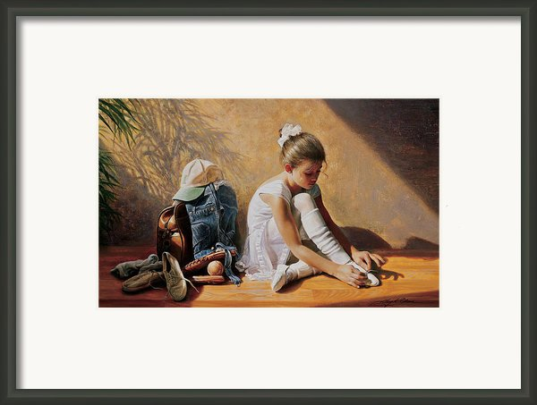 Denim To Lace Framed Print By Greg Olsen