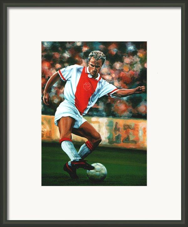 Dennis Bergkamp 2 Framed Print By Paul  Meijering