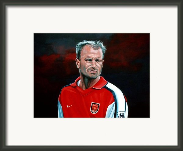 Dennis Bergkamp Arsenal Framed Print By Paul Meijering