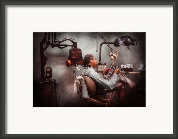Dentist - Waiting For The Dentist Framed Print By Mike Savad