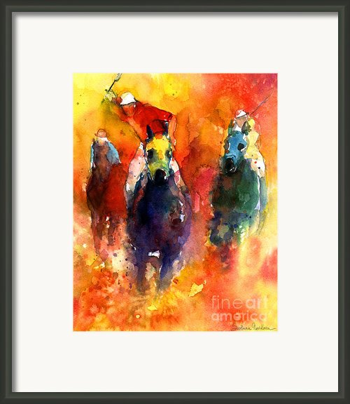 Derby Horse Race Racing Framed Print By Svetlana Novikova