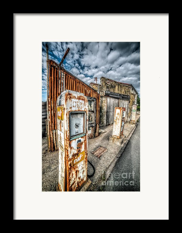 Derelict Gas Station Framed Print By Adrian Evans