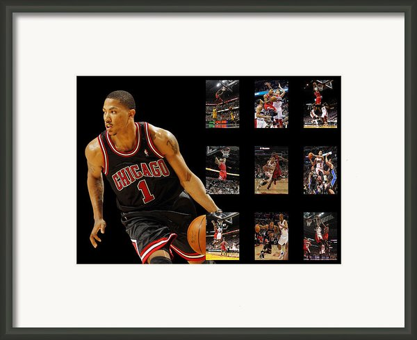Derrick Rose Framed Print By Joe Hamilton
