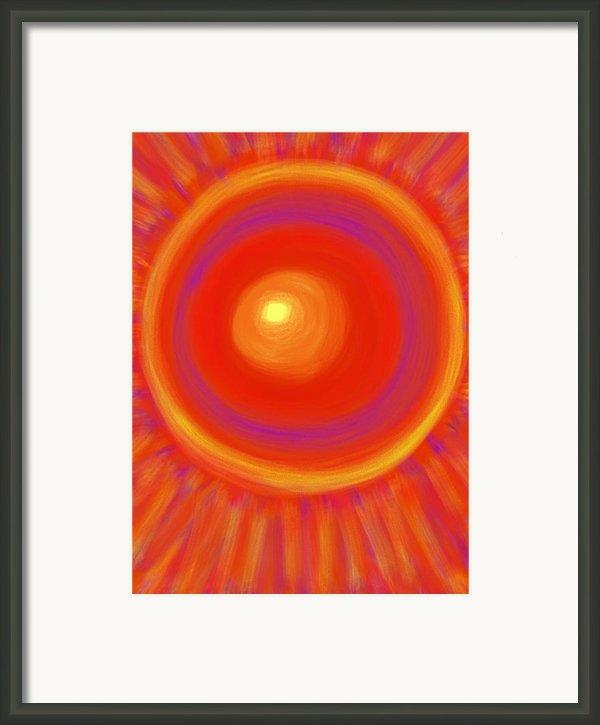 Desert Sunburst Framed Print By Daina White