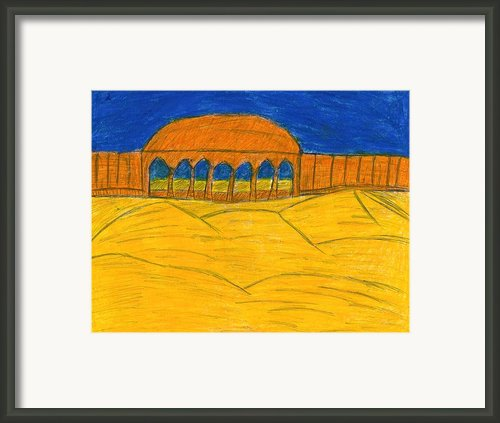 Desert Temple Framed Print By Frances Garry