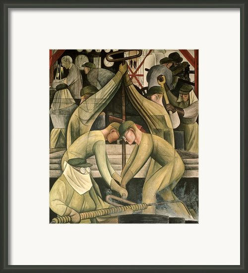 Detroit Industry  South Wall Framed Print By Diego Rivera