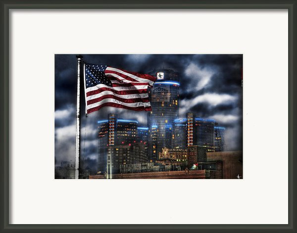 Detroit Mi Usa Framed Print By Nicholas  Grunas