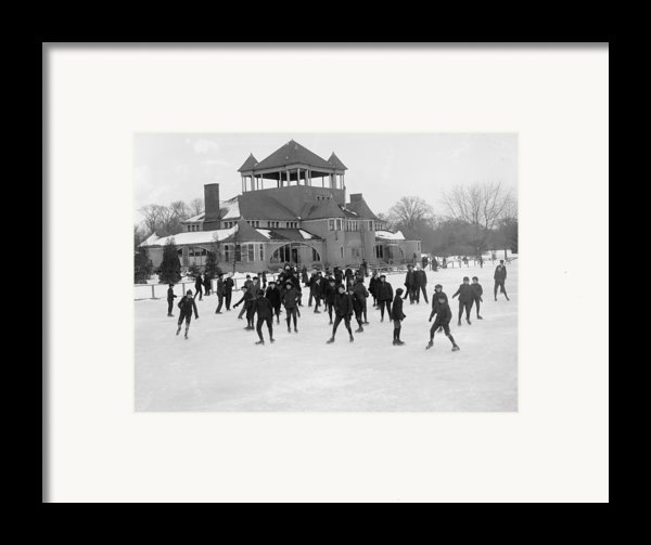 Detroit Michigan Skating At Belle Isle Framed Print By Anonymous