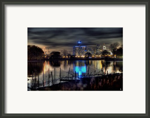 Detroit Reflections Framed Print By Nicholas  Grunas