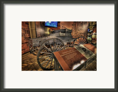 Detroits First Car Framed Print By Nicholas  Grunas