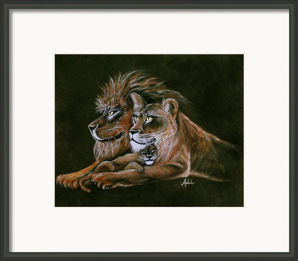 Devotion Framed Print By Adele Moscaritolo