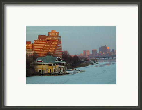Dewolfe Boathouse Riverside Framed Print By Barbara Mcdevitt