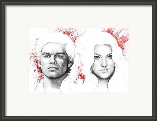 Dexter And Debra Morgan Framed Print By Olga Shvartsur
