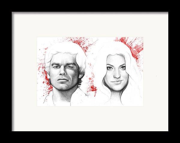Dexter And Debra Morgan Framed Print By Olga Shvartsur