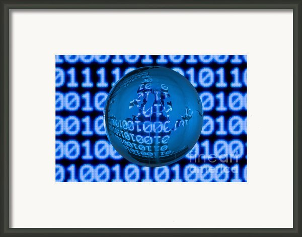Digital World Framed Print By Shawn Hempel