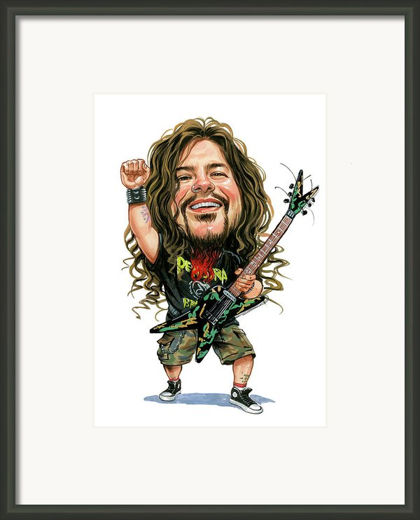 Dimebag Darrell Framed Print By Art