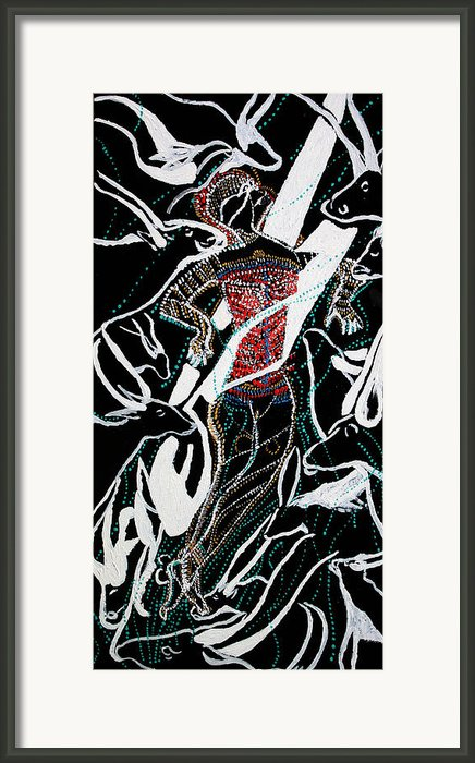Dinka Dance Framed Print By Gloria Ssali