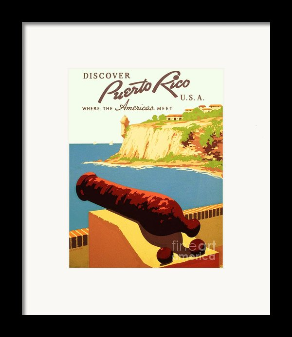 Discover Puerto Rico Framed Print By Pg Reproductions