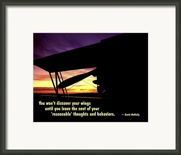 Discover Your Wings Framed Print By Mike Flynn