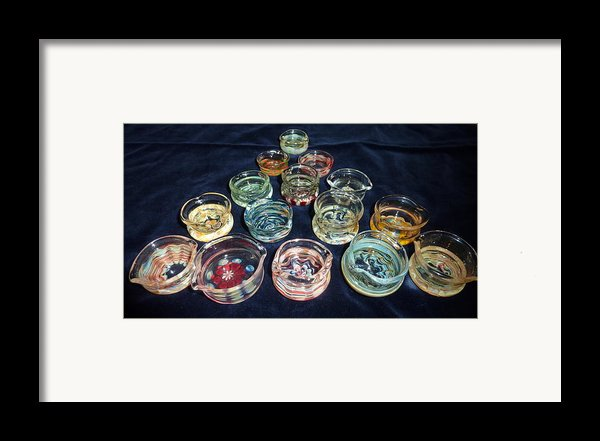 Dishes Framed Print By Glass Dabber