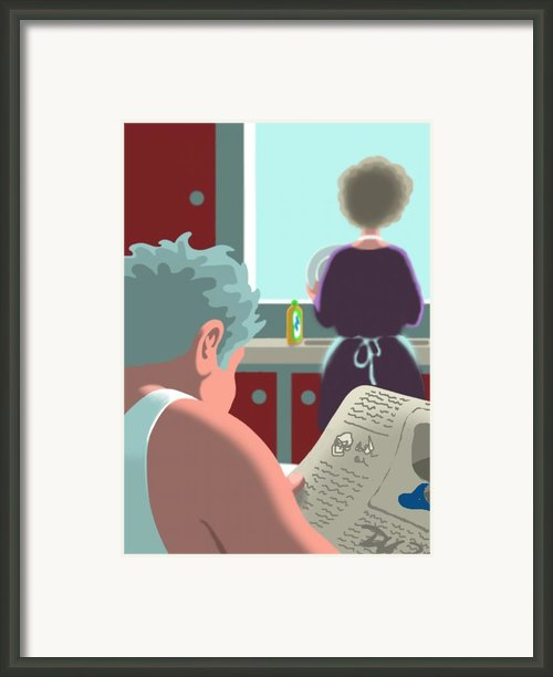 Dishwasher Framed Print By Tom Dickson