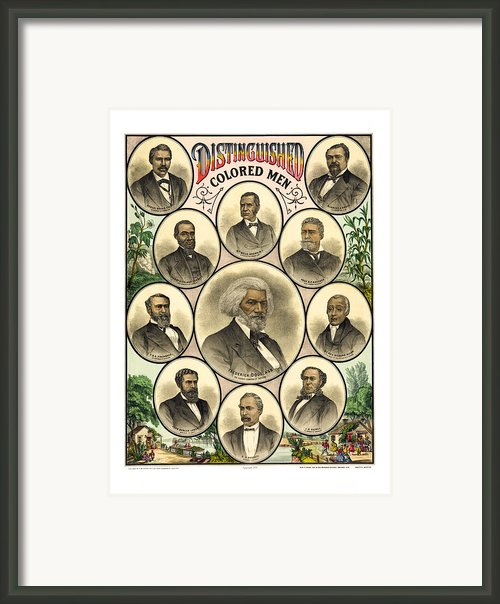 Distinguished Colored Men   1883 Framed Print By Daniel Hagerman
