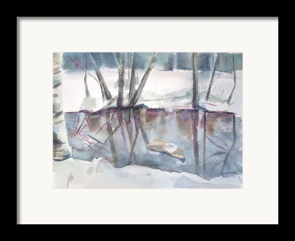 Ditch Pool April Framed Print By Grace Keown