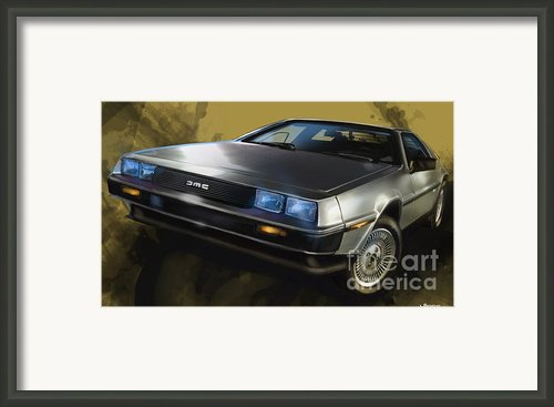 Dmc Sports Car Framed Print By Uli Gonzalez