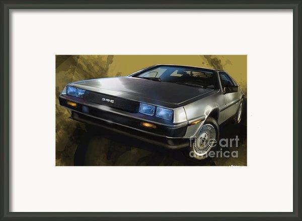 Dmc Sports Car Framed Print By Uli Gonzalez