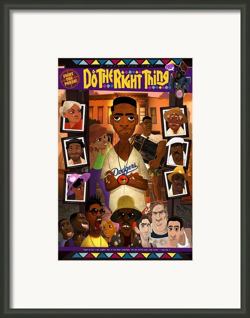 Do The Right Thing Framed Print By Nelson Dedos Garcia