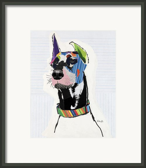 Doberman Pinscher Framed Print By Michel  Keck