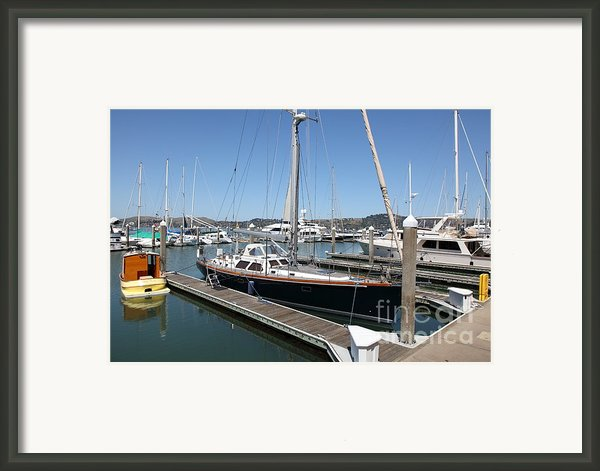 Docks At Sausalito California 5d22688 Framed Print By Wingsdomain Art And Photography