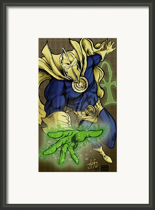 Doctor Fate Framed Print By John Ashton Golden