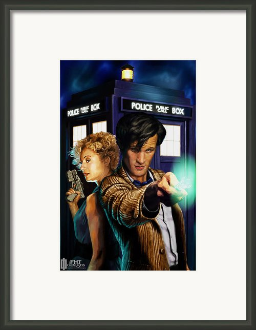 Doctor Who Framed Print By Fht Designs
