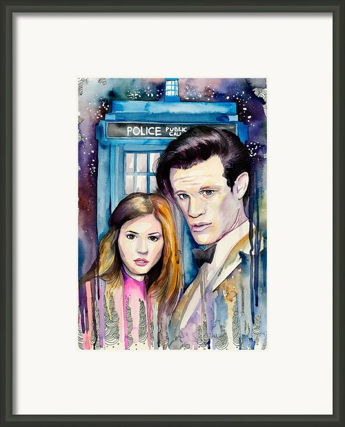 Doctor Who Framed Print By Lyubomir Kanelov