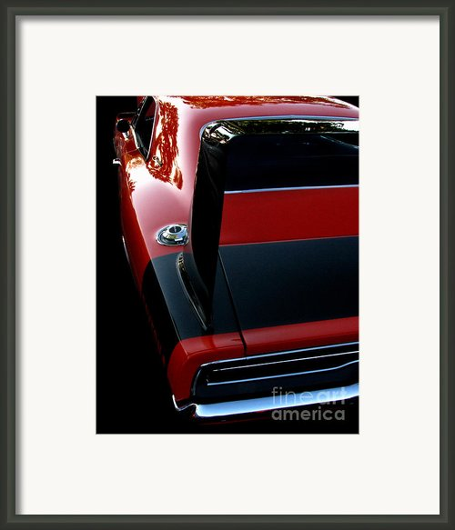 Dodge Daytona Fin Framed Print By Peter Piatt