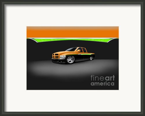 Dodge Framed Print By Frankie Thorpe