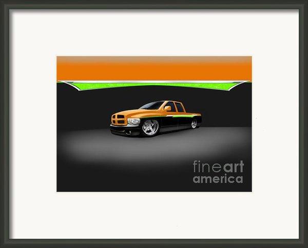 Dodge Framed Print By Frankie Thorpe